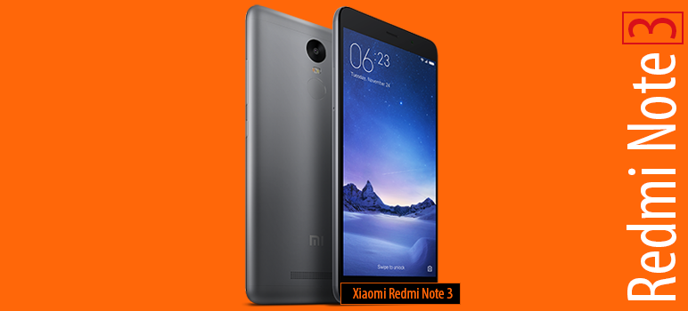 Xiaomi Redmi Note 3 » Android smartphone » Announced 2016, January. Features 3G, 5.5″ IPS LCD capacitive touchscreen, 16 MP camera, Wi-Fi, GPS, Bluetooth.