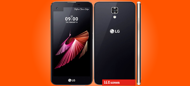 LG X screen » Android smartphone » Aparitie 206 » Features 3G, 4.93″ IPS LCD capacitive touchscreen, 13 MP camera, Wi-Fi, GPS, Bluetooth.
