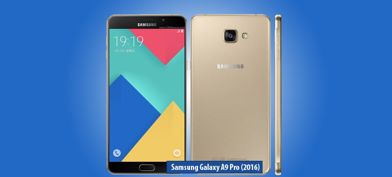 Samsung Galaxy A9 Pro (2016) » Android smartphone » Aparitie 2016 » Features 3G, 6.0″ Super AMOLED capacitive touchscreen, 16 MP camera, Wi-Fi, GPS, Bluetooth.