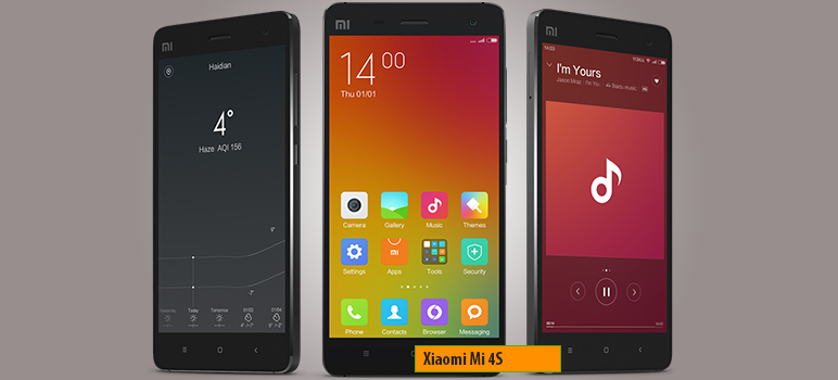 Xiaomi Mi 4s » Android smartphone » Aparitie 2016 » Features 3G, 5.0″ IPS LCD capacitive touchscreen, 13 MP camera, Wi-Fi, GPS, Bluetooth.