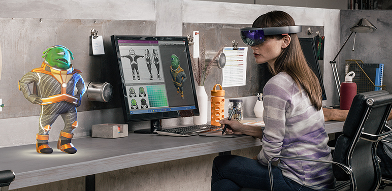 3. Microsoft HoloLens: let you go beyond the screen