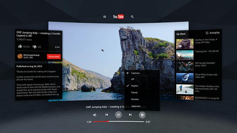 Aplicatia YouTube VR pentru Android se poate descarca acum din Play Store