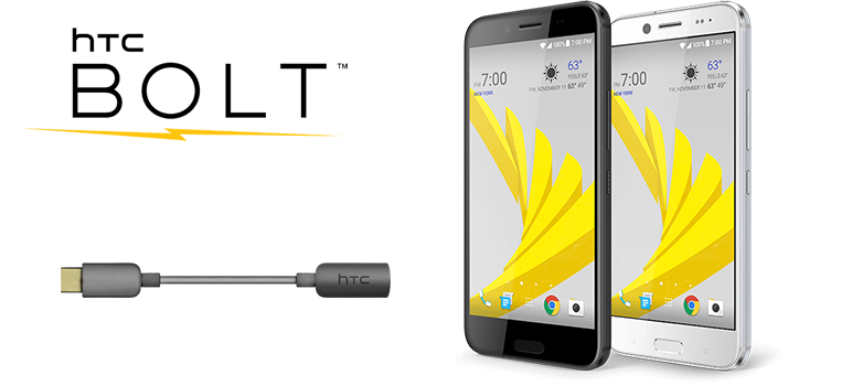 Htc ofera gratuit adaptor audio USB-C to 3.5mm pentru proprietarii de HTC Bolt