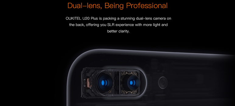 Oukitel U20 Plus este cel mai ieftin smartphone de pe piata telefoanelor mobile, dotat cu camera dubla.