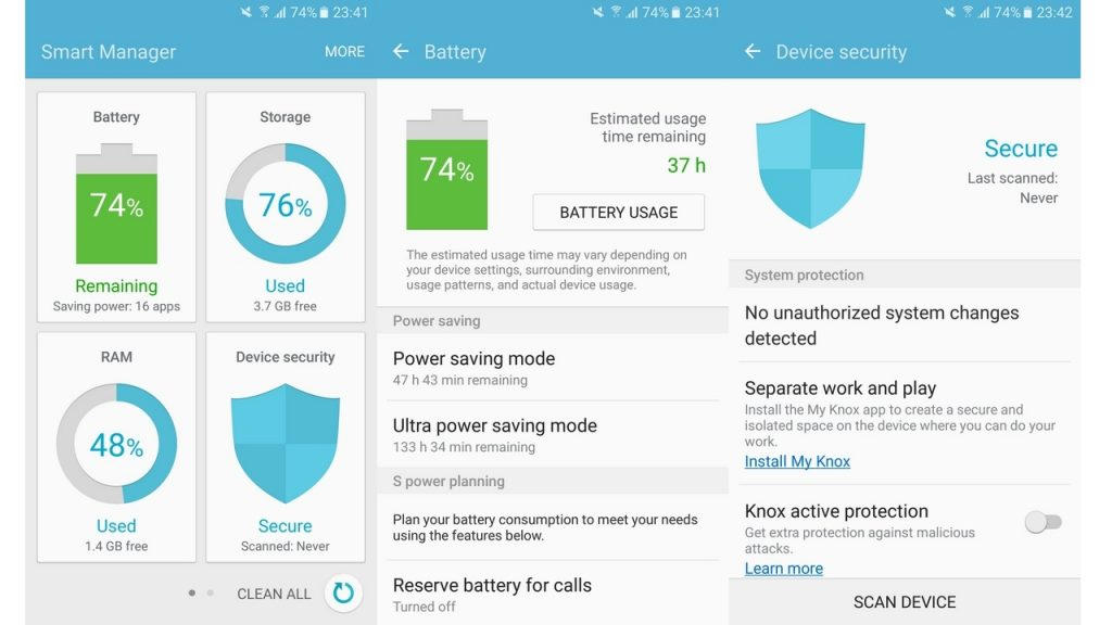 Functia Smart Manager Samsung Galaxy J7 Prime