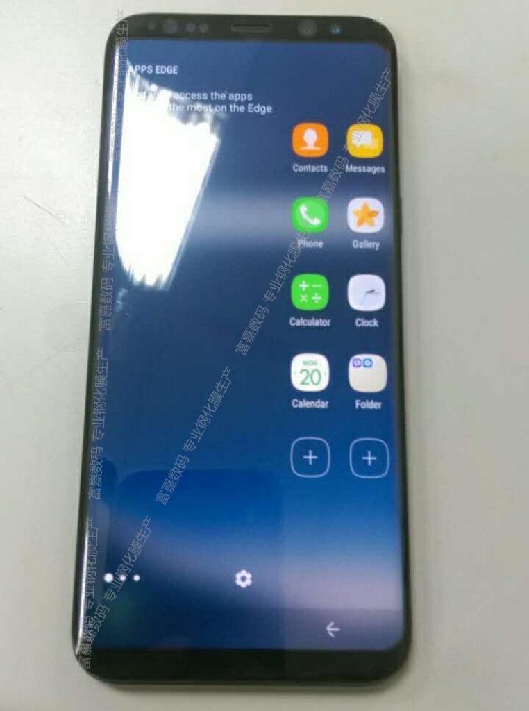Samsung Galaxy S8 imagini din fata