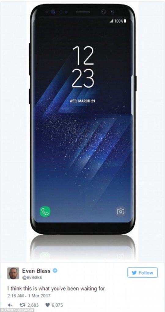 Samsung Galaxy S8 imagine oficiala