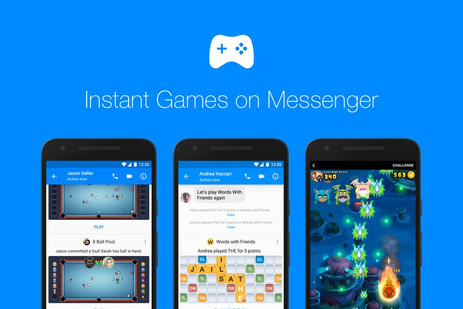 Facebook Instant Games disponibil de azi la nivel global