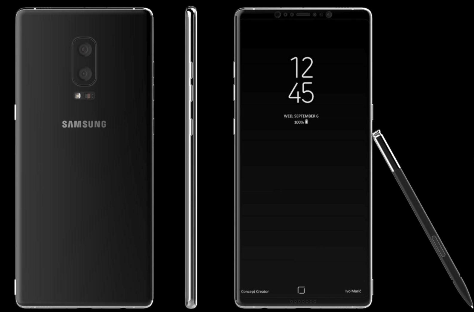 Samsung Galaxy Note 8 noi detalii, imagini si data de lansare