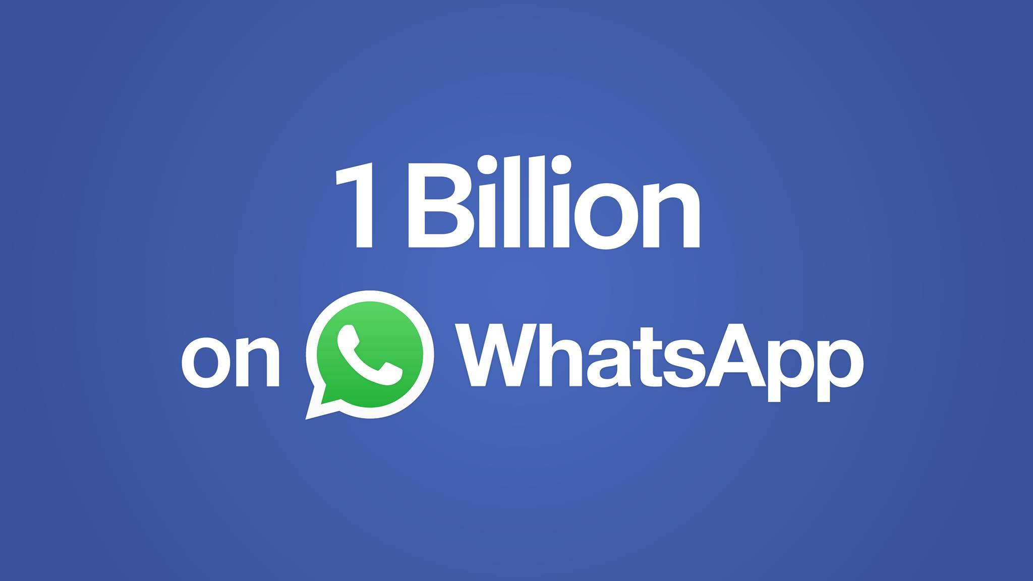 WhatsApp a atins pragul de 1 miliard de utilizatori zilnici