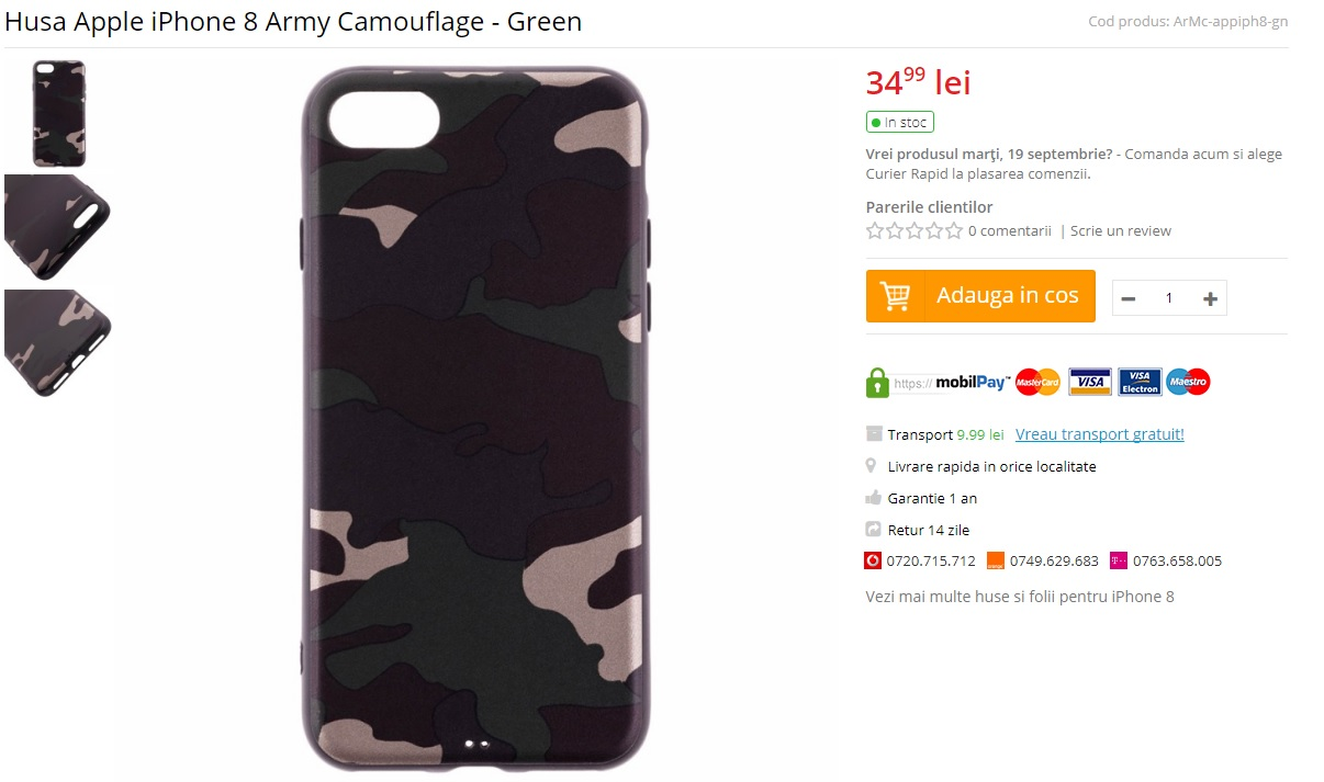 husa iPhone 8 Army Camouflage