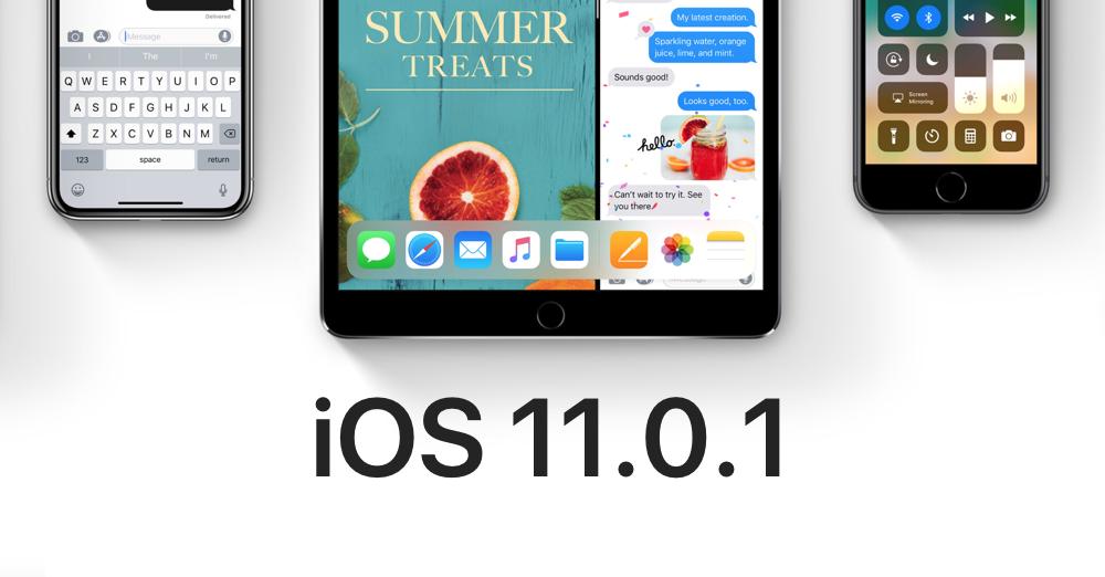 Apple a lansat actualizarea iOS 11.0.1