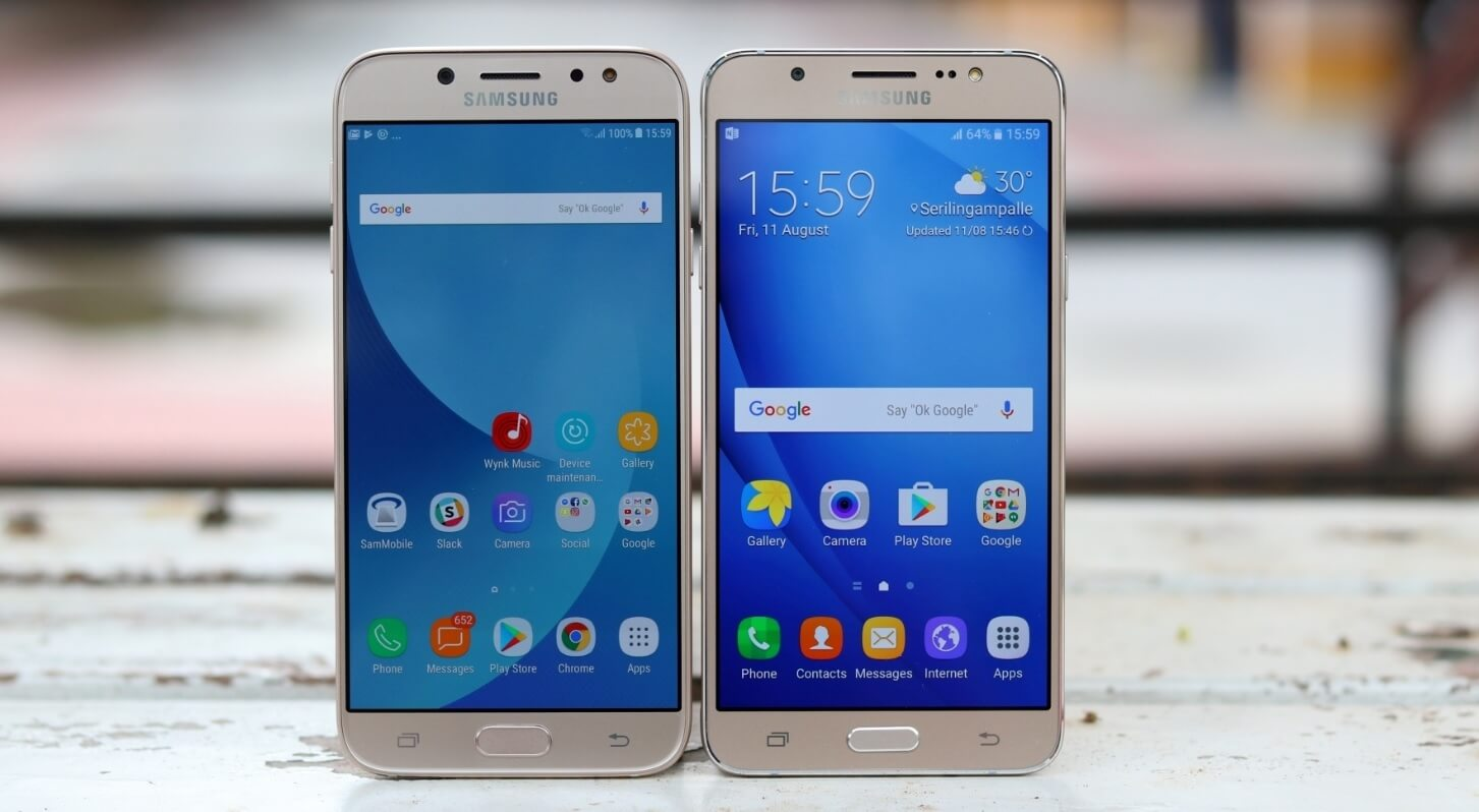 Samsung Galaxy J7 2016 vs Samsung Galaxy J7 2017 (1)