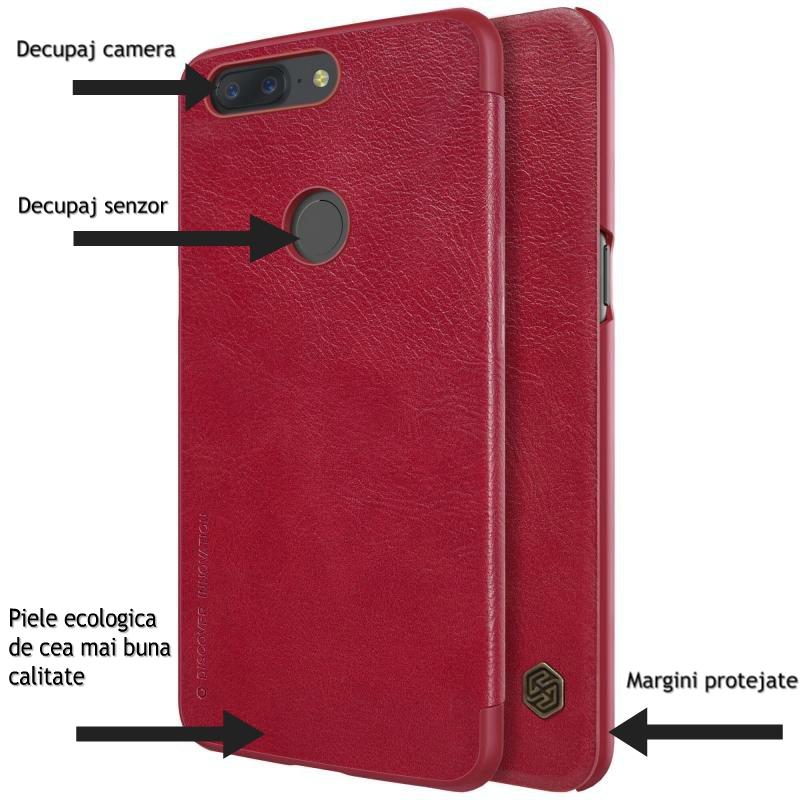 Husa OnePlus 5T Flip Nillkin QIN (2)