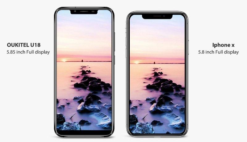Oukitel U18 vs iPhone X
