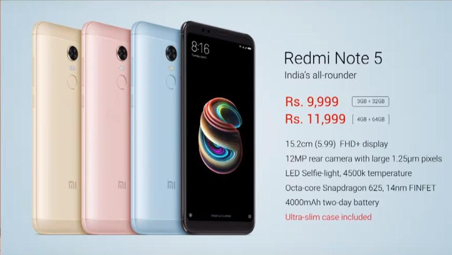 Xiaomi Redmi Note 5 pret