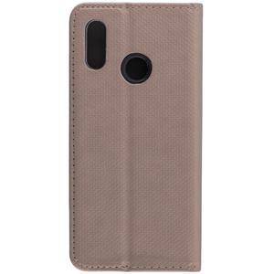 Husa Smart Book Huawei P20 Lite Flip Auriu