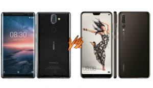 Nokia 8 Sirocco vs Huawei P20 Pro