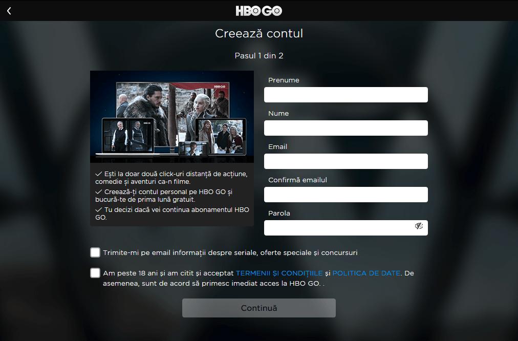 inregistrare cont HBO Go Romania(1)