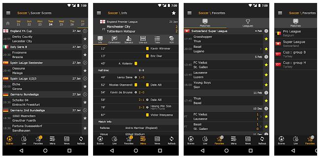 Top 5 aplicatii fotbal livescore - LiveScore