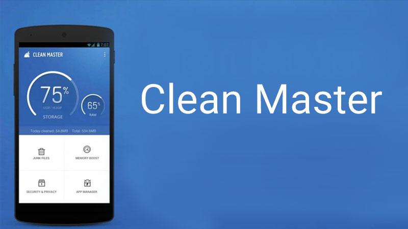 Clean Master, top 20 aplicatii pentru telefoane Android in 2018.