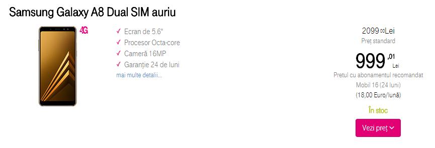 Samsung Galaxy A8 Telekom Romania