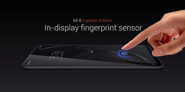 Xiaomi Mi 8 Explorer Edition senzor in ecran