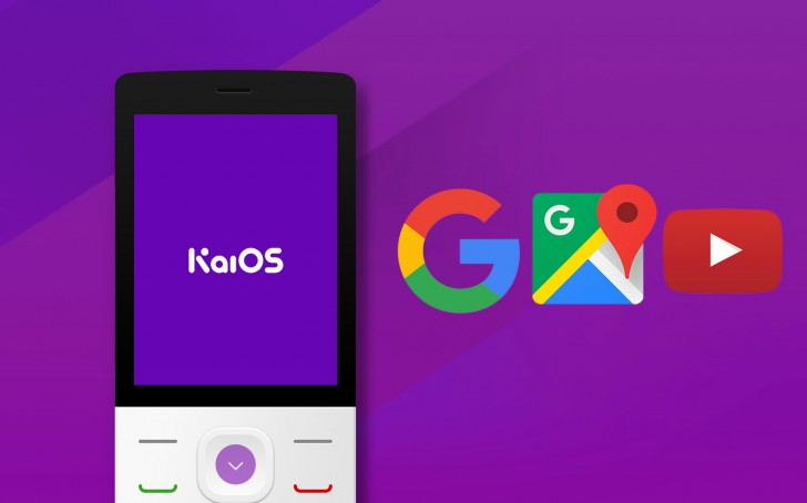 KaiOS - Google Maps, YouTube, Google