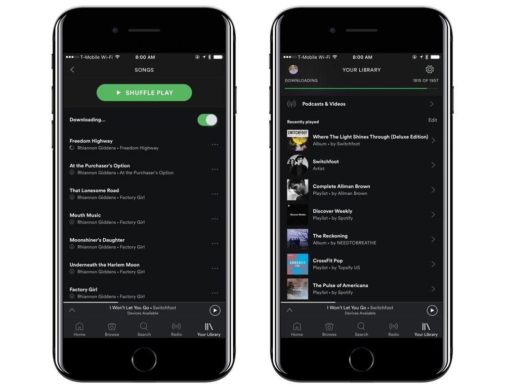 Top 10 aplicatii pentru muzica pe iPhone in 2018 - Spotify