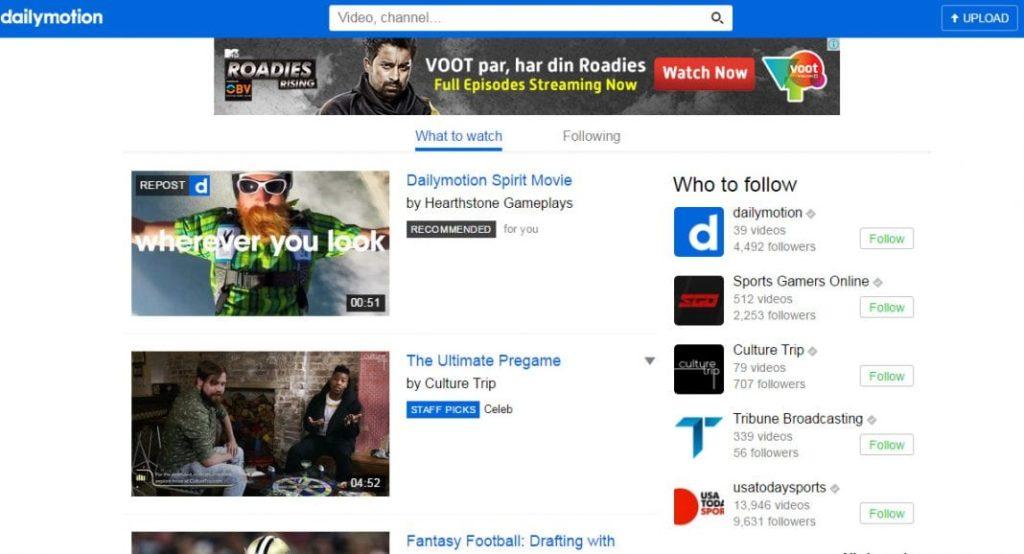 cele mai bune alternative la YouTube-Dailymotion