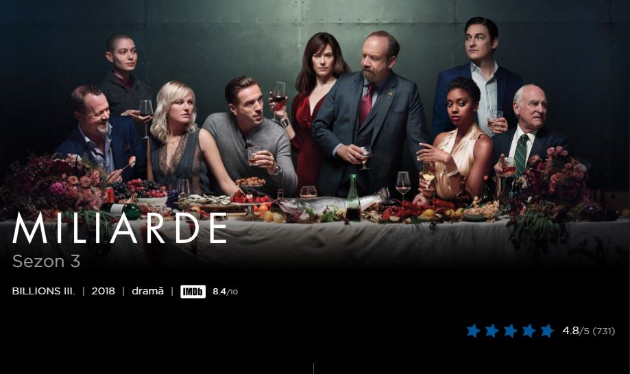 Top 10 seriale Hbo Go 2018 - Billions