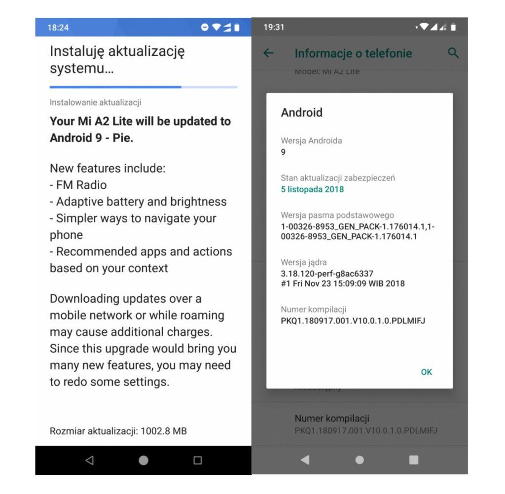 actualizare Android Pie pe Xiaomi Mi A2 Lite